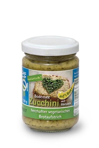 Zucchini mit Bärlauch auf's Brot