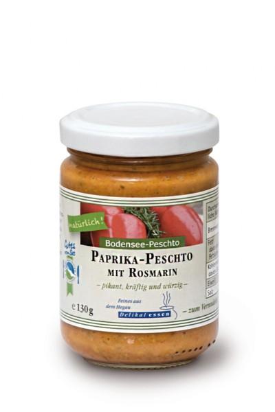 Paprika-Peschto mit Rosmarin