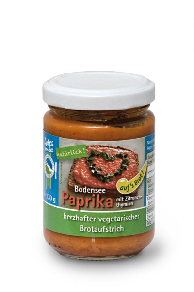Paprika mit Zitronenthymian auf's Brot