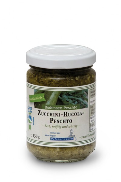 Zucchini-Rucola-Peschto