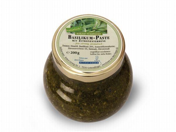 Basilikum-Paste mit Zitronenverbene