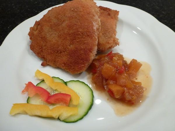 Tomaten-K-se-Schnitzel