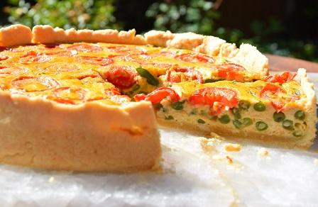 Bohnen-Tomaten-Quiche