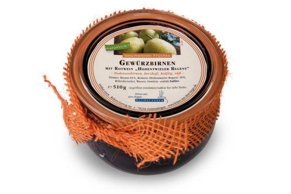 """Gewürzbirnen mit Rotwein """"Hohentwieler Regent"""""""