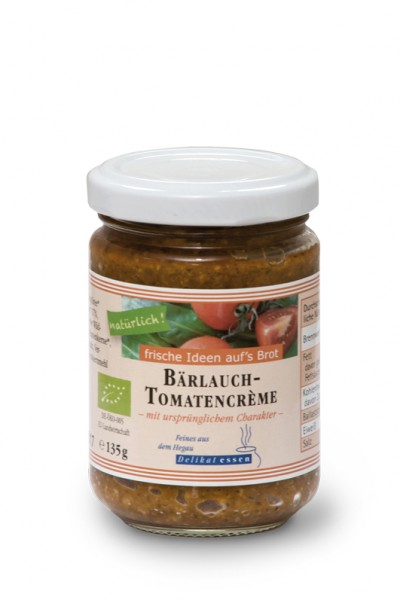 Bärlauch-Tomatencrème BIO